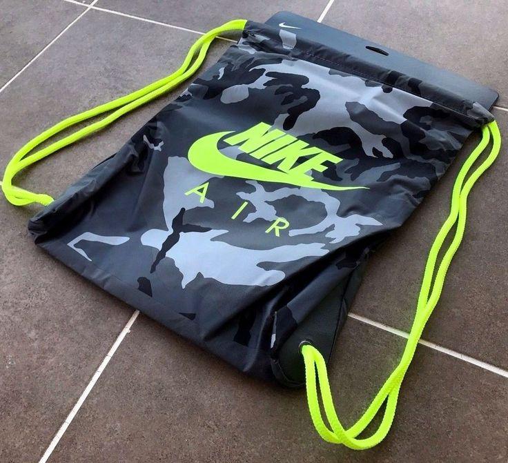 NIKE AIR Bag Drawstring Swoosh Gym Sack Sports Training Yoga Backpack Unisex NEW #Nike #DrawstringBag
