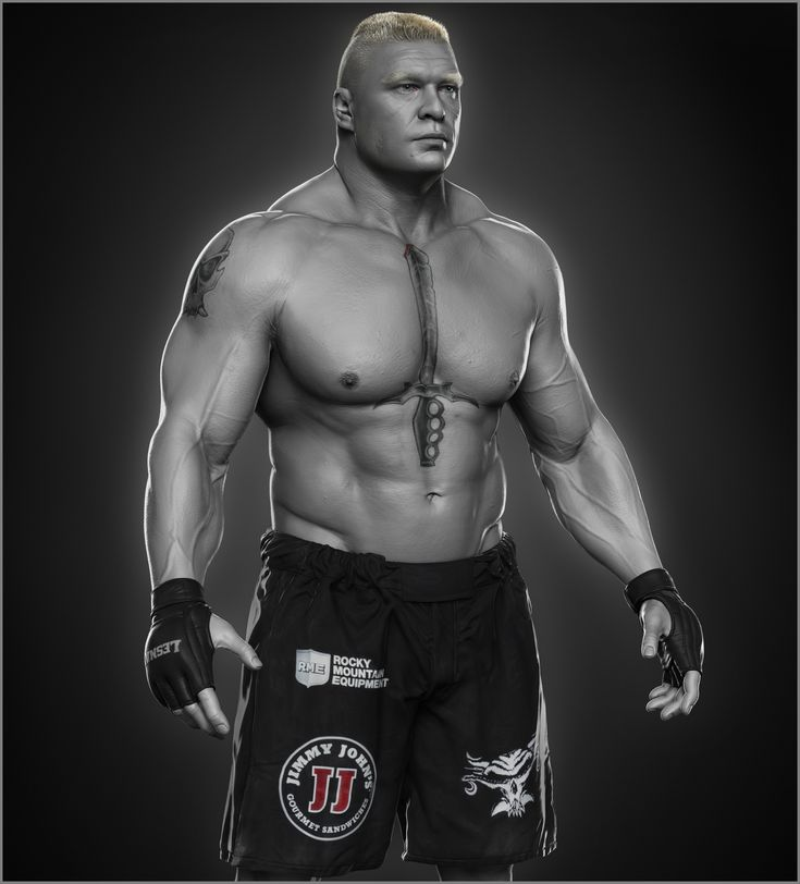 ArtStation - Brock Lesnar done for WWE by Hossein Diba. 2k MUST hire Hossein in their team, at least the characters would look right in games...