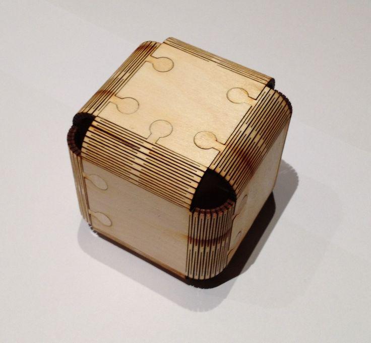 Lasercut Cube by jjb.
