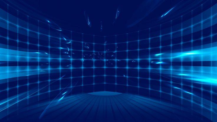 Atmospheric blue light effect electronic technology background