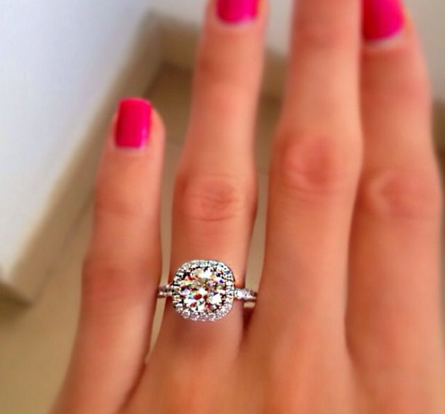 Engagement ring. Huge. But gorgeous.