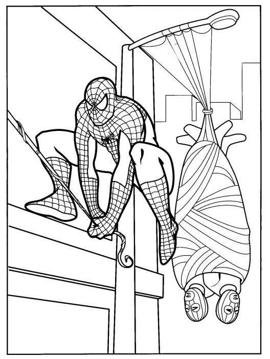 48 best SpiderMan Coloring Pages images on Pinterest  Spiderman