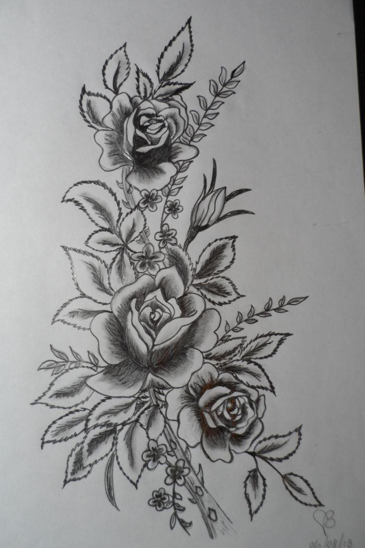 bouquet de roses au crayon plomb peinture pinterest crayons bouquets et roses. Black Bedroom Furniture Sets. Home Design Ideas