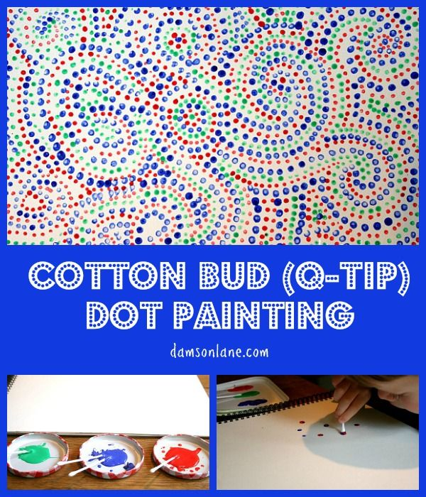 Cotton Bud or Q-Tip Painting inspired by The Dot by Peter H. Reynolds