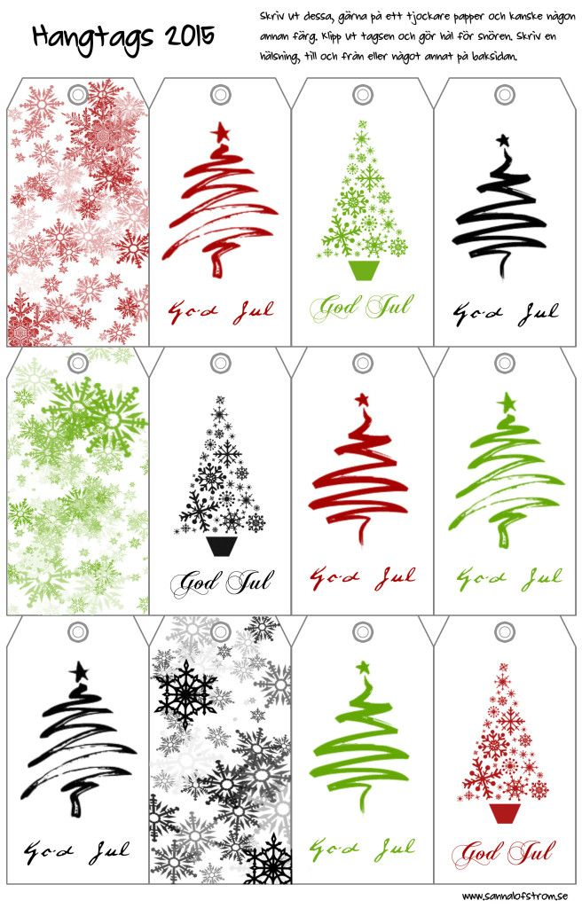 Print hangtags to decorate your christmas gift with :)