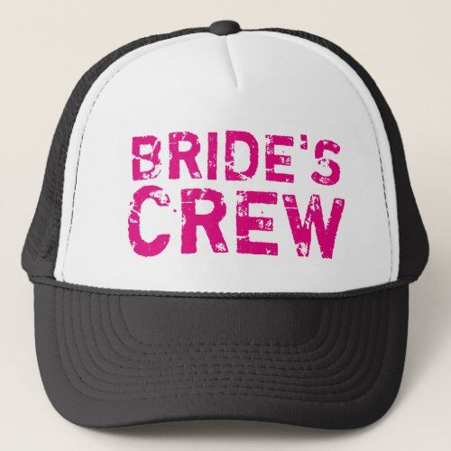 BRIDES CREW vintage bachelorette party trucker hat