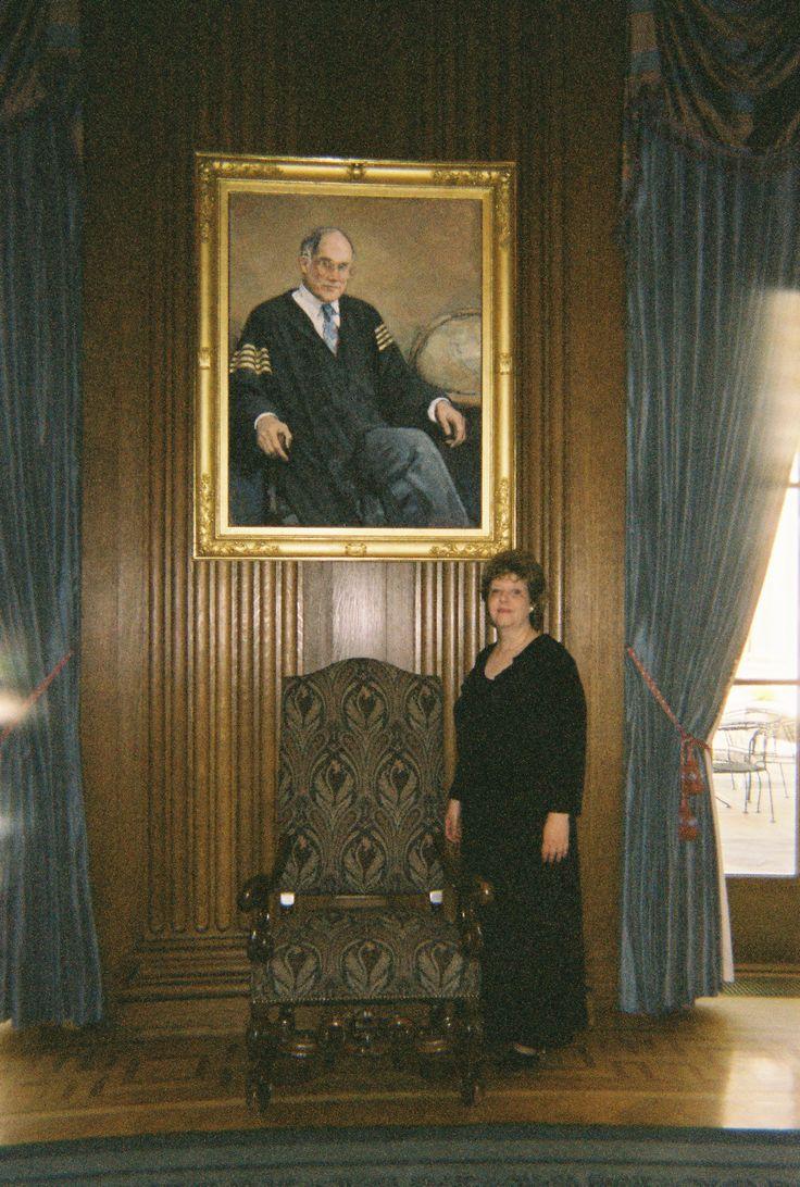 With Chief Justice William Rehnquist.