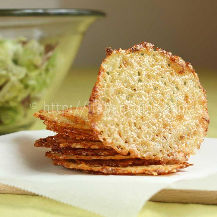 Formaggio Croccante Per Accompagnare Insalate Crispy Italian Chips to accompany salad!