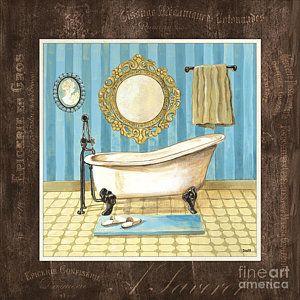 Painting - French Bath 1 by Debbie DeWitt
