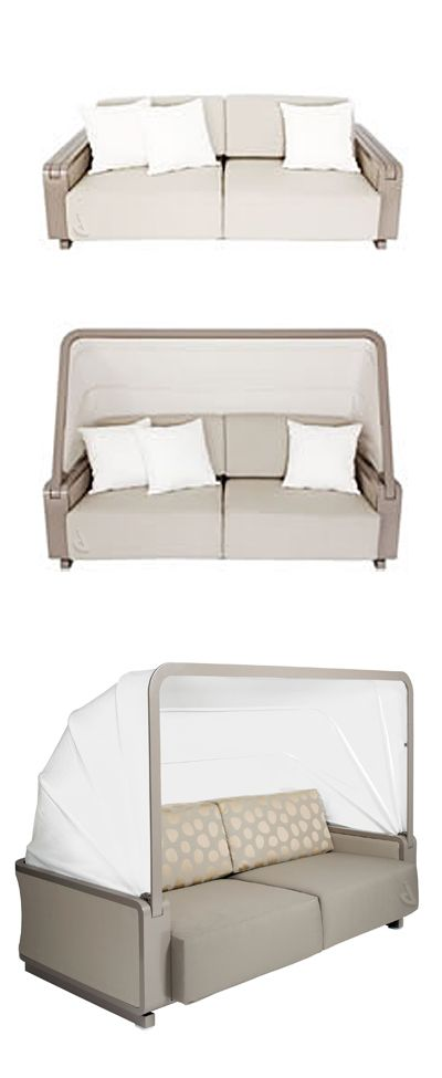 Folding canopy outdoor sofa #furniture_design http://www.big-red-home.com/