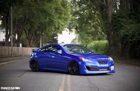 lowered+hyundai+genesis | Hyundai Genesis Coupe Stance & Flush Fitment