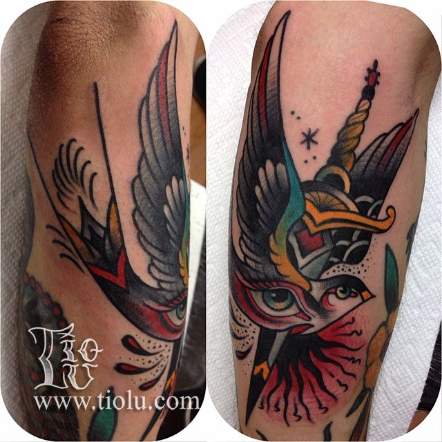 Done at Enigma tattoo Montreal swallow-and-dagger.jpg 640×640 pixels