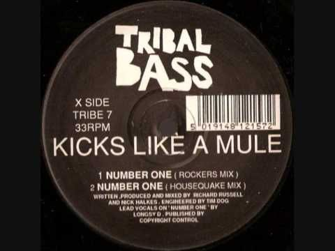 Kicks Like A Mule (Feat. Longsy D) - 'Number One' (Rockers Mix) - Tribal Bass Records (1992)