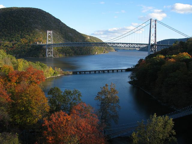 Bear Mountain Bridge spanning the Hudson River in upstate New York