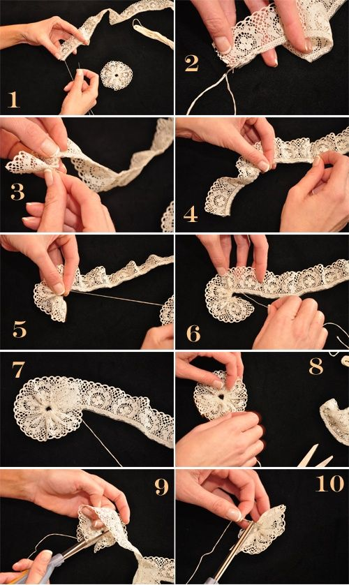 Culture Branding DIY lace rosettes CLICK THE IMAGE FOR MORE!!