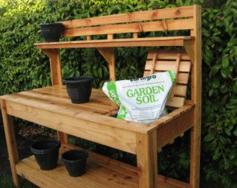 5 Cedar Potting Bench. This Potting Bench Is 5 Long 5 Tall And 2 Deep