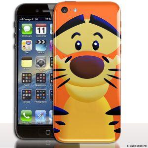 Coque personnalisée iPhone 5C Tigrou - Disponible egalement Housse de silicone 5C Apple. #Tigrou #Apple #iphone #5C