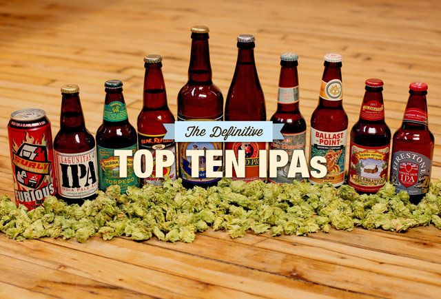 The definitive top 10 IPAs, as chosen by a hopped-up panel of beer writers (Great read for craft beer lovers!)