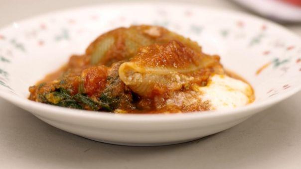 gevulde pastaschelpen in de oven - Eén - Dagelijkse kost