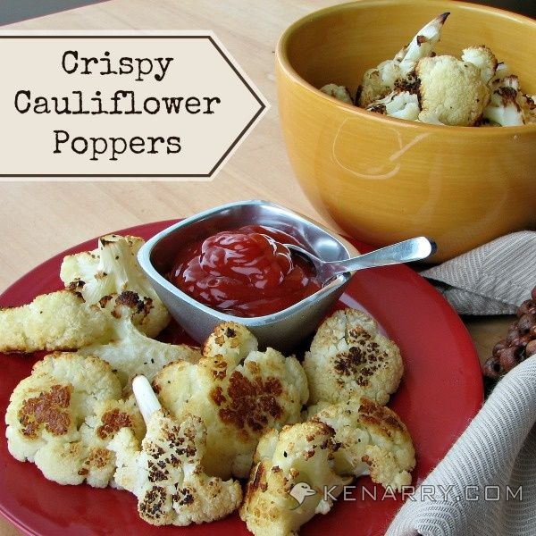 Baked Cauliflower Poppers: A Crispy Low-Carb Side Dish - Kenarry.com - An idea inspired by @Lindsay Kujawa