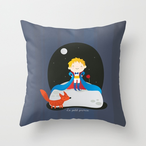 Le petit prince Throw Pillow from Society 6 (also available as iPhone case, print, stationery)