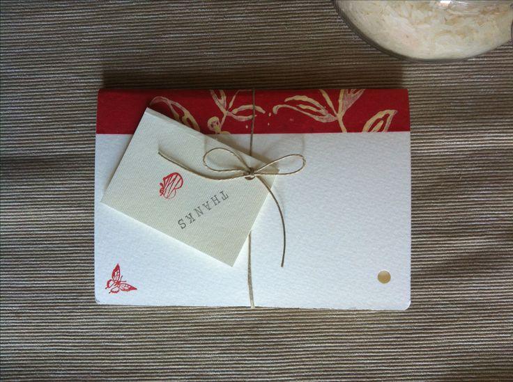 Mini Notebook flowers  Handmade - butterfly