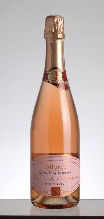 JAILLANCE Crémant de Bordeaux ROSÉ Cuvée de l´Abbaye, 12%vol.  Bouteille de 0,75l  Médaille d´Or 2011 (Concours National Crémants de France)