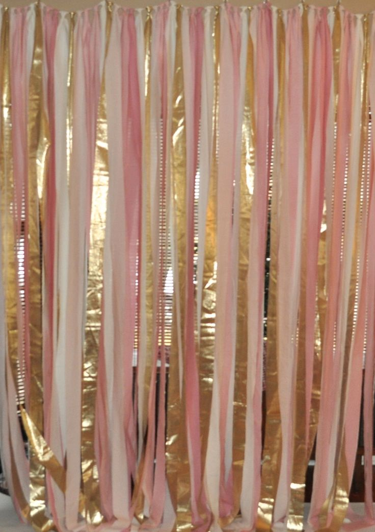 Blush pink and gold ceremony backdrop