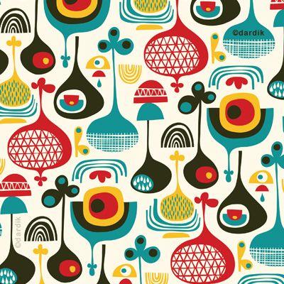 Helen Dardik | orange you lucky! Retro pattern
