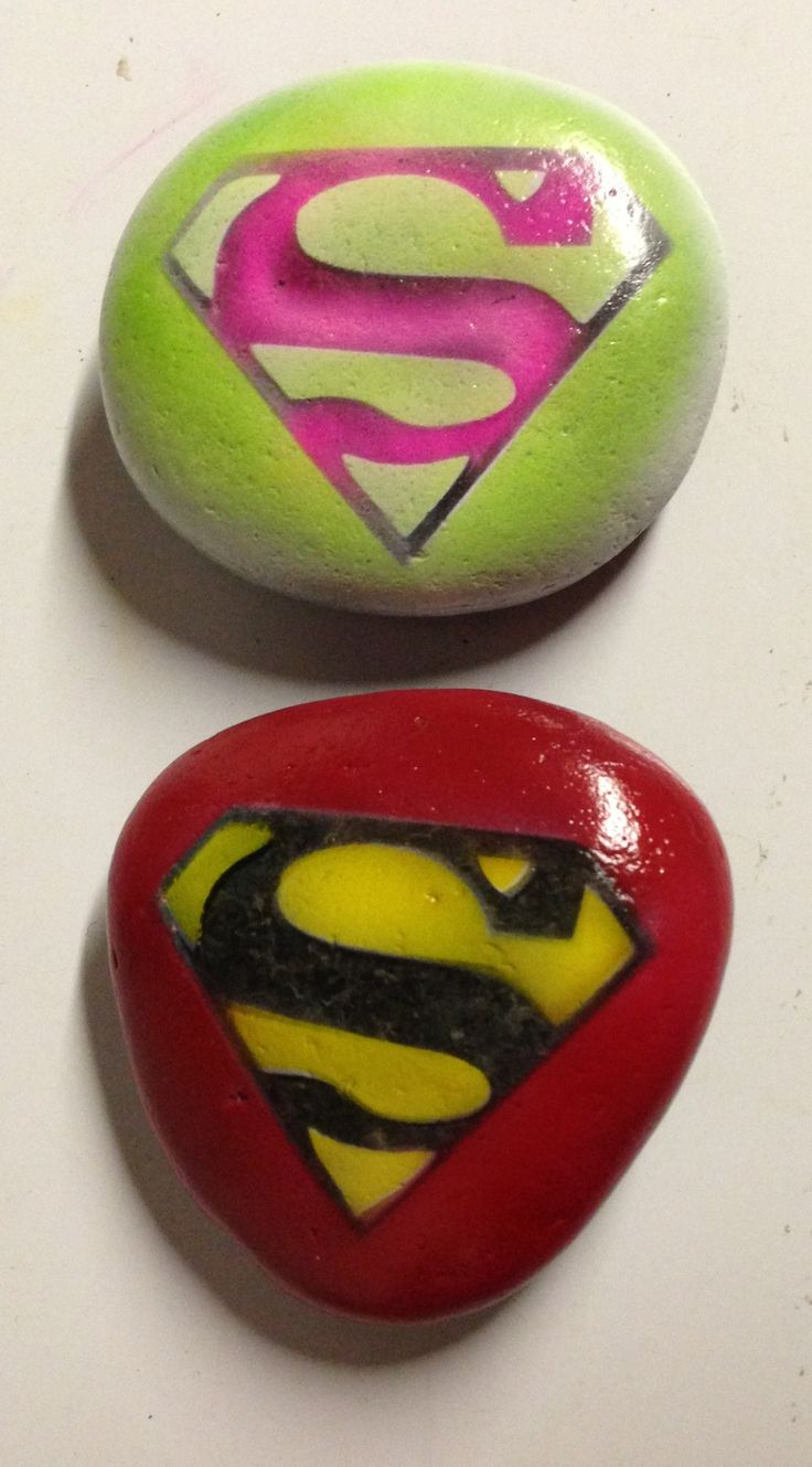 Superman stones-for all you Superman Fans out there...oh yeah, that's Me!!