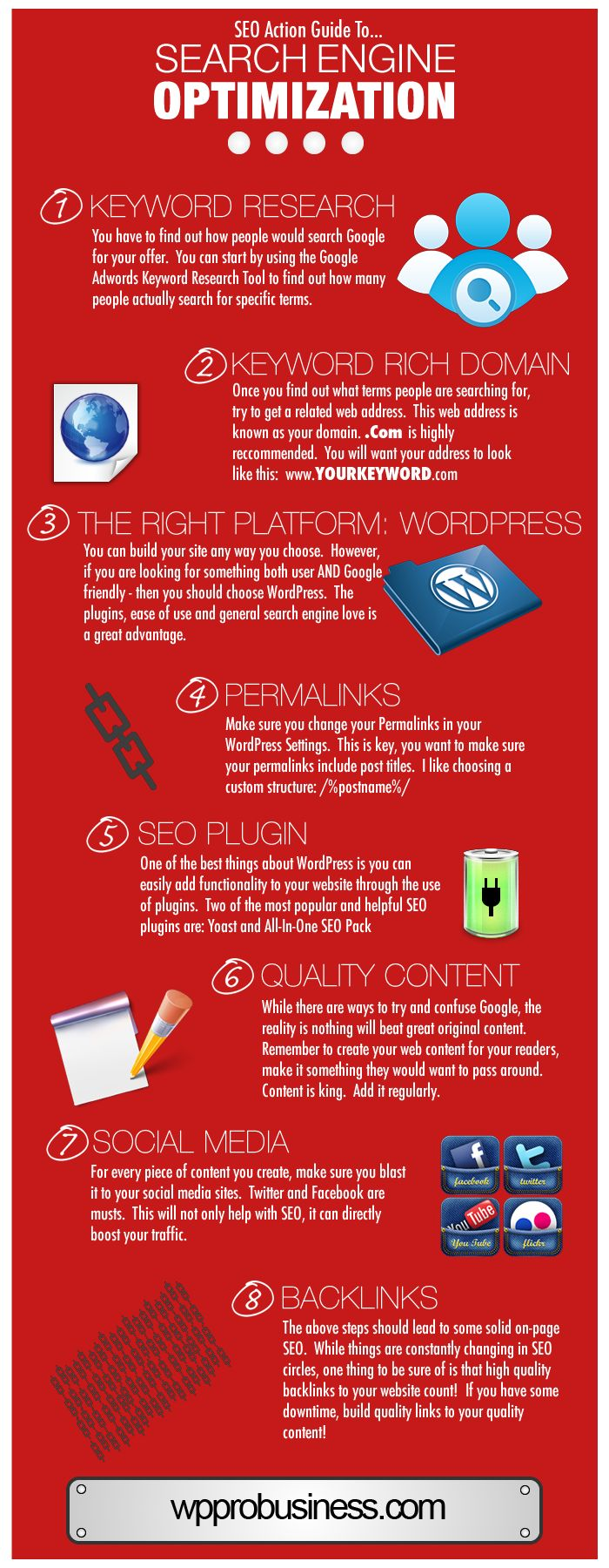 SEO Action Infographic  http://wpprobusiness.com/4382/beginners-guide-to-seo-for-business/