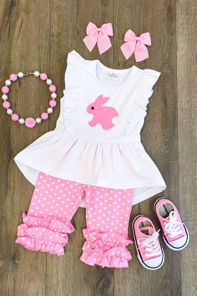 Precious Pink Bunny Capri Set