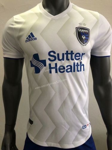ff27f6f5e Player Version 2018-19 San Jose Earthquakes Away White Thailand Soccer  Jersey AAA