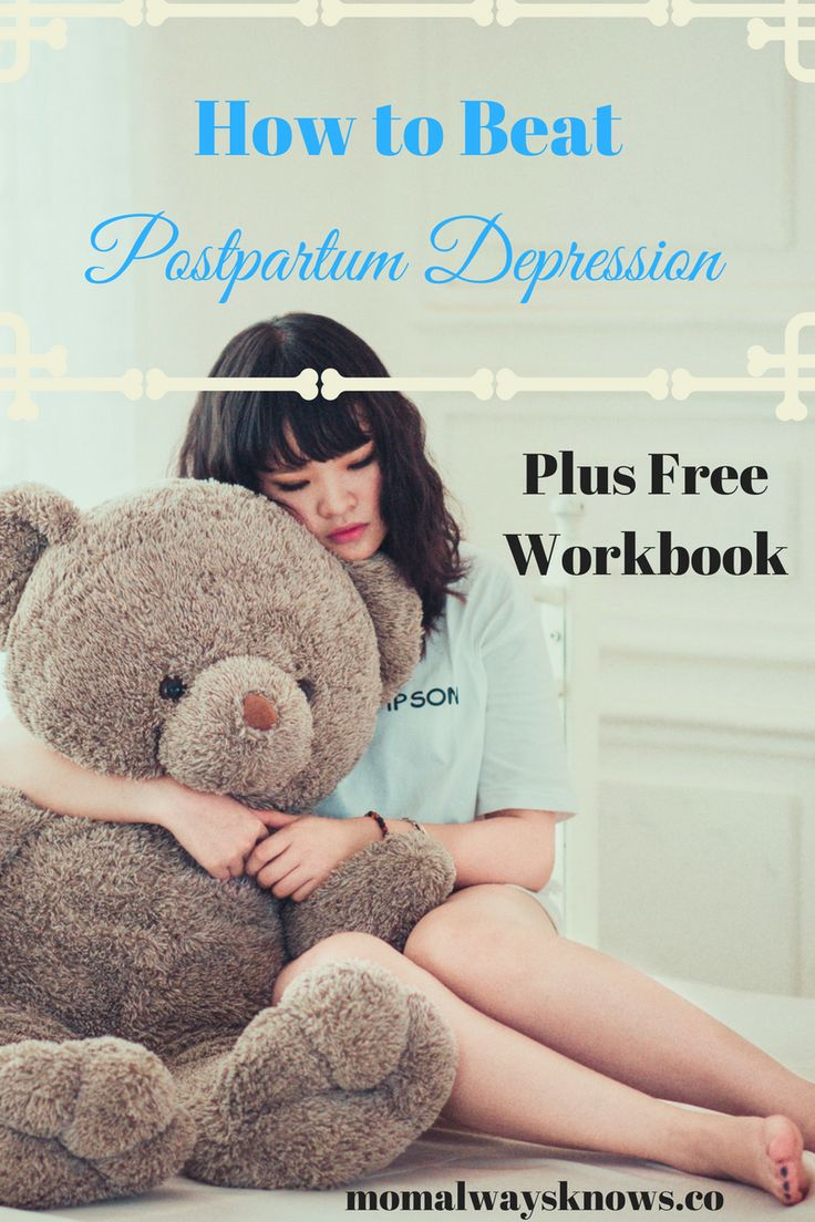 Postpartum depression is serious! Odds are you know someone who is struggling now. Here are 6 tips plus a free printable workbook to help you beat it!