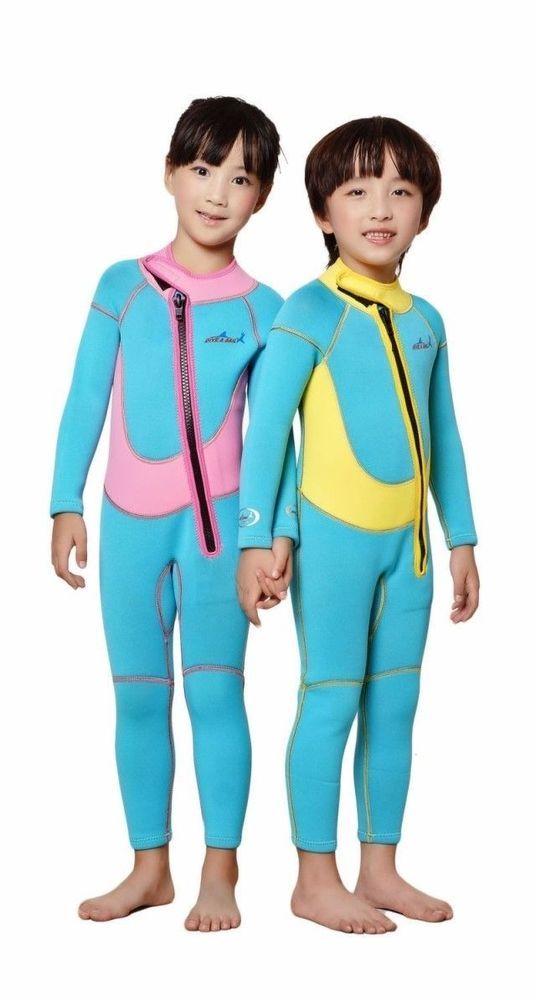 4e9bf45067 2.5mm Child Swimwear Neoprene Watersports Kids Long Sleeve Diving Full  Wetsuit (eBay Link) | Water Sports | Pinterest | Wetsuit, Kids swimwear and  Surfing