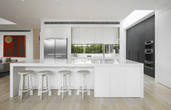 Barhocker für Küche \u2013 Gestalten Sie den Bereich um die Kücheninsel