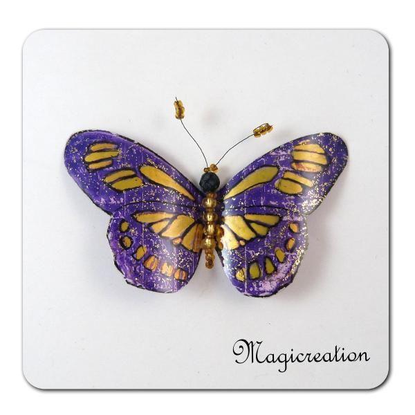 MAGNET PAPILLON DIANE - Boutique www.magicreation.fr