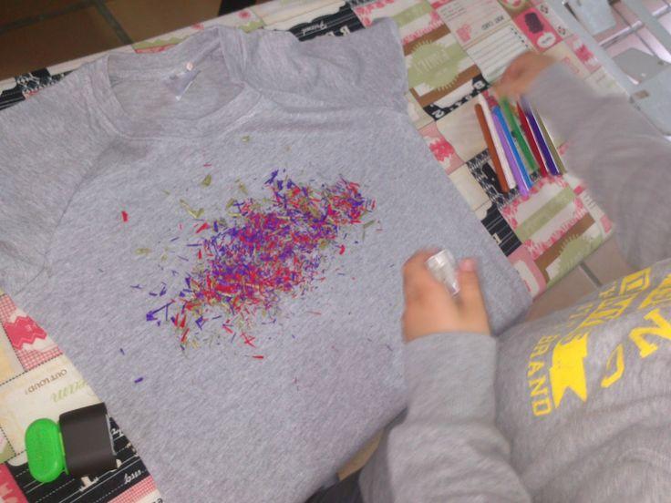 Decorar camiseta con plastidecor