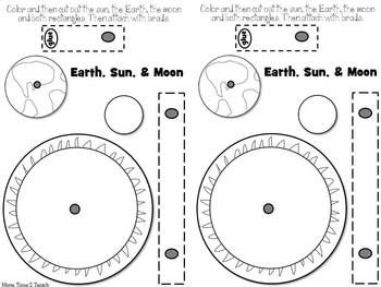 SPACE: MODEL OF EARTH & MOON'S ORBIT - TeachersPayTeachers.com