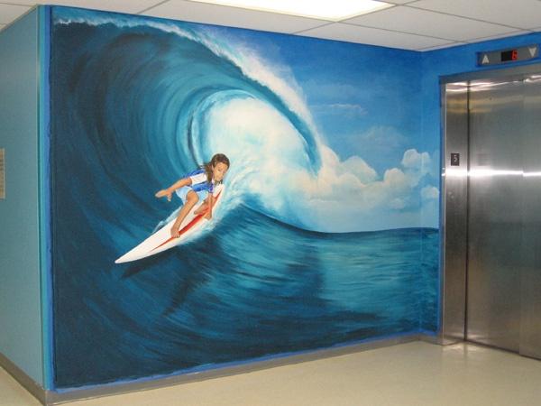 Best APaintMurals Images On Pinterest Murals Painted - Artist paints incredible seaside murals balanced on surfboard