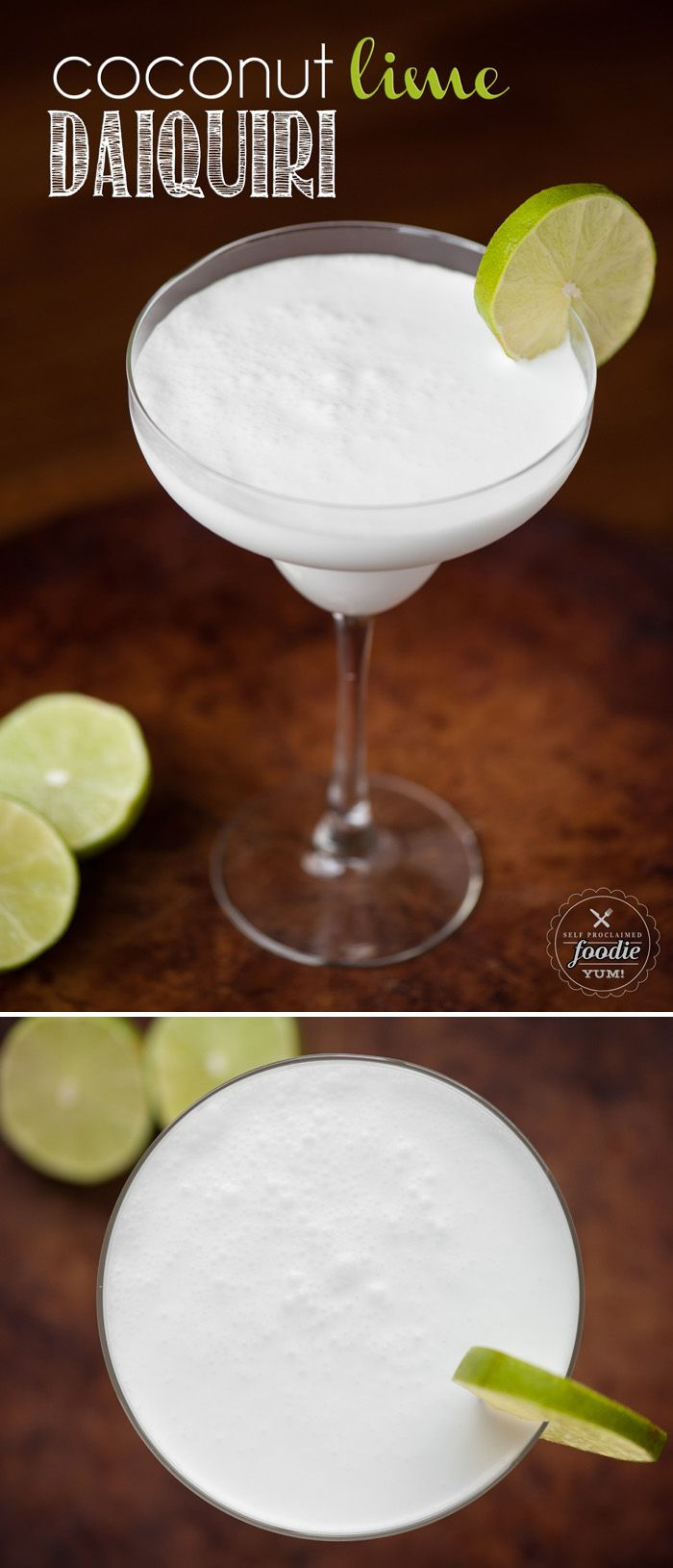 Blend up this three ingredient Coconut Lime Daiquiri. It's simple to make an…