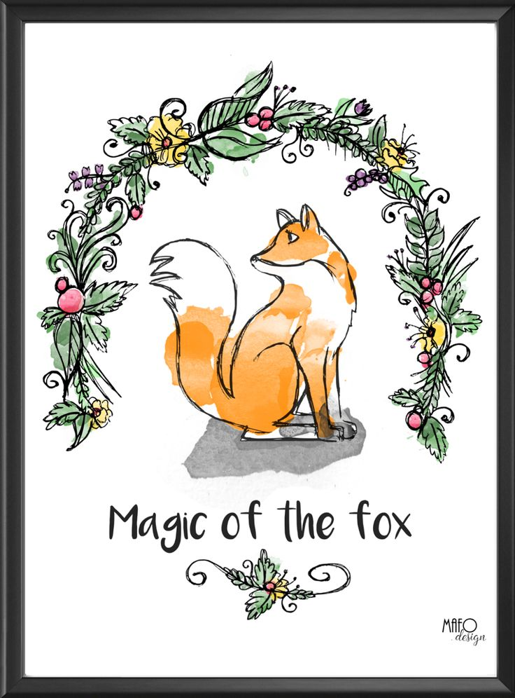 Plakat projektu MAFOdesign Magic of the Fox do kupienia tylko na www.mafodesign-sklep.pl #plakat #design #lis #jesień #jesiennedekoracje #poster #fox #autumn #fall #autumndecor #falldecor #walldecor #interior #decor