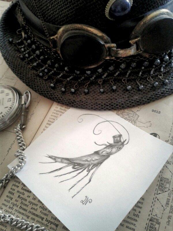 Steampunk Cockroach Doodle