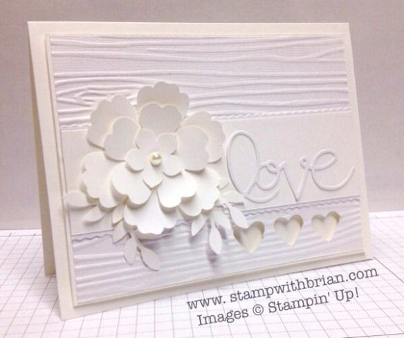 White-on-White Card Challenge, Stampin' Up, Brian King, PP176 -- Gorgeous!!