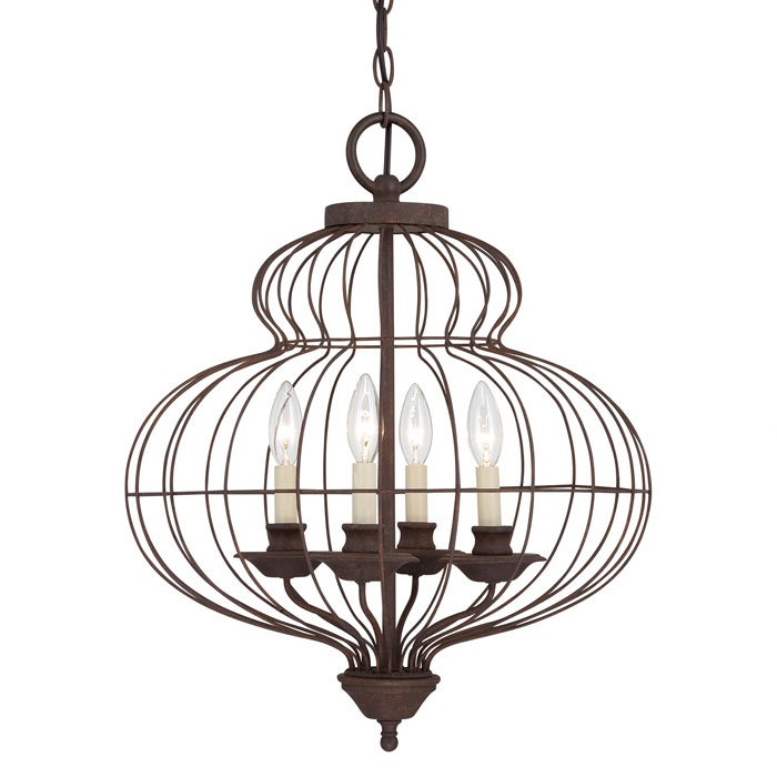 Quoizel 'Laila' 4-light Candelabra Chandelier | Overstock.com Shopping - Great Deals on