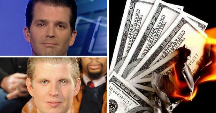 Taxpayers Will Revolt When They Find Out How Much Eric And Donald Jr.'s Trips Are Costing - liberalspeak.com