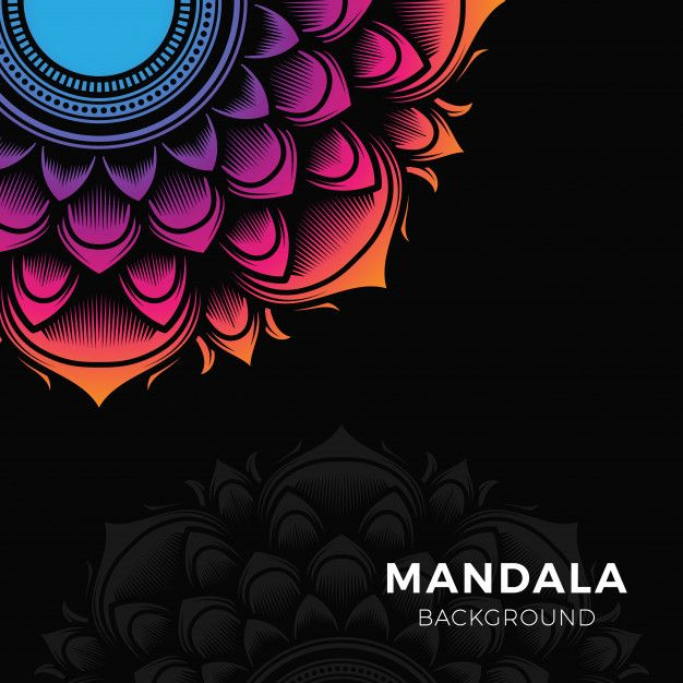 Colorful Mandala Background In 2020 Mandala Coloring Mandala