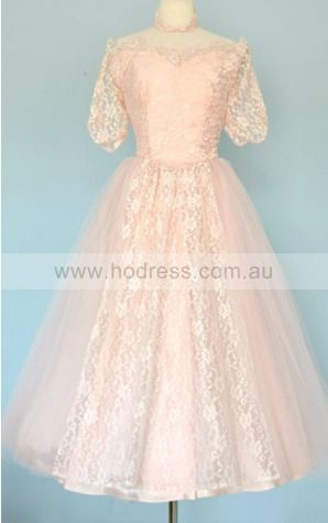 Lace Off The Shoulder Natural Ball Gown Knee-length Bridesmaid Dresses 0190912--Hodress