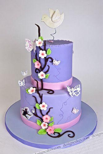 Pretty in Purple Baby Shower Cake