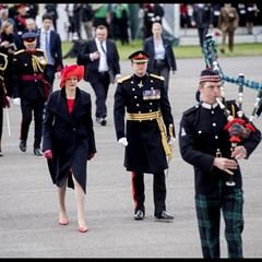 Theresa May attends the Sovereign's Parade at the Royal Military Academy Sandhurst